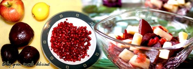 rote beete salat mit granatapfel green smart delicious. Black Bedroom Furniture Sets. Home Design Ideas