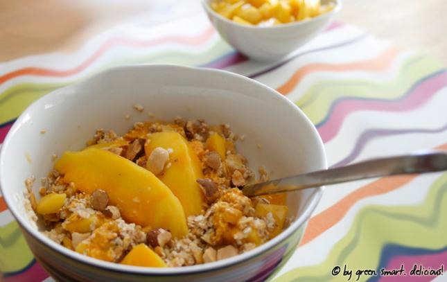 Sanddorn-Müsli mit Mango