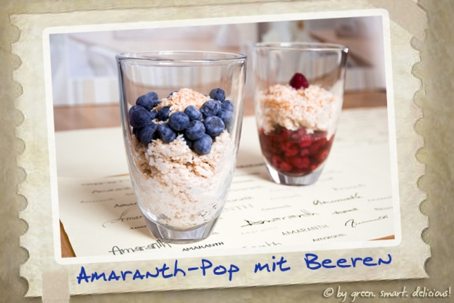 Amaranth-Pop mit Beeren