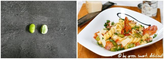 Pasta mit dicken Bohnen und Bacon_COLLAGE