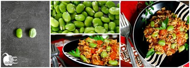 Reissalat mit dicken Bohnen und Tomaten_COLLAGE
